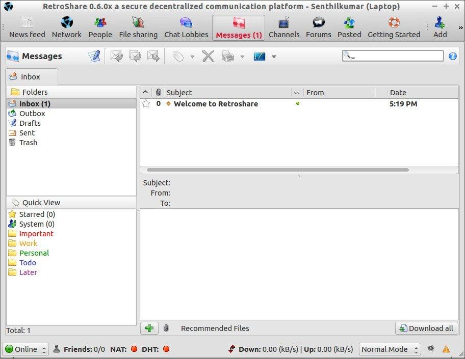 RetroShare 0.6.0x a secure decentralized communication platform - Senthilkumar (Laptop)_004