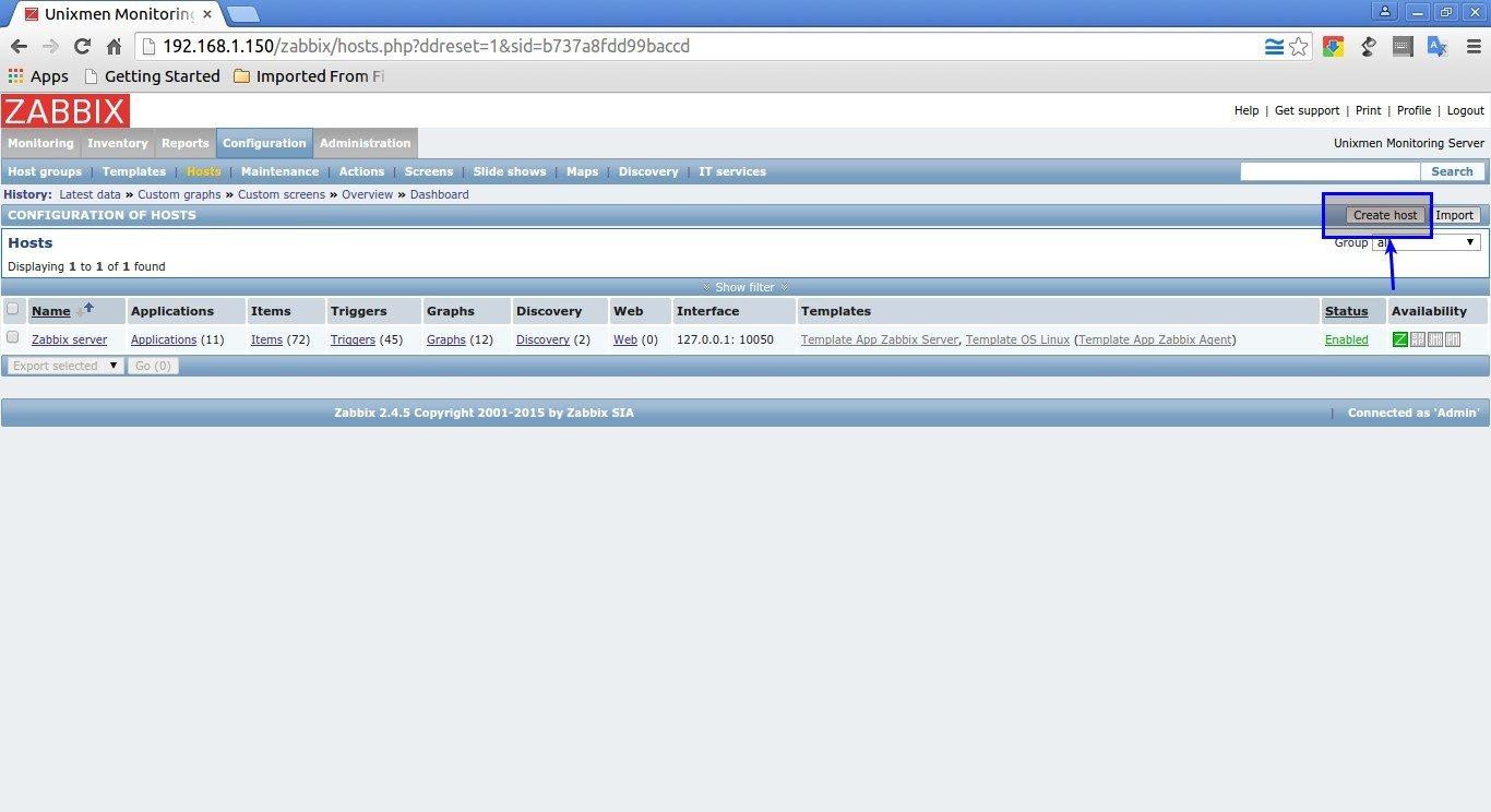 Unixmen Monitoring Server: Configuration of hosts - Google Chrome_004