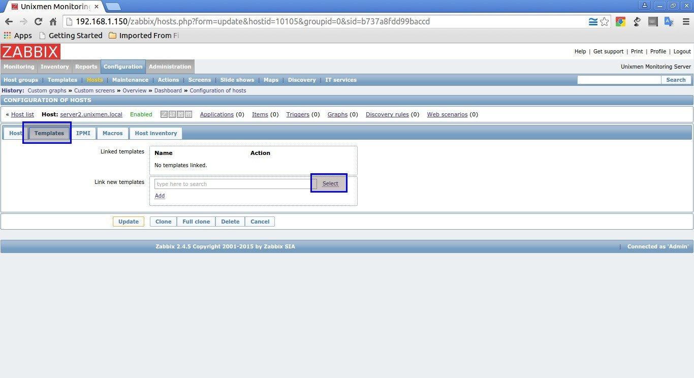 Unixmen Monitoring Server: Configuration of hosts - Google Chrome_008