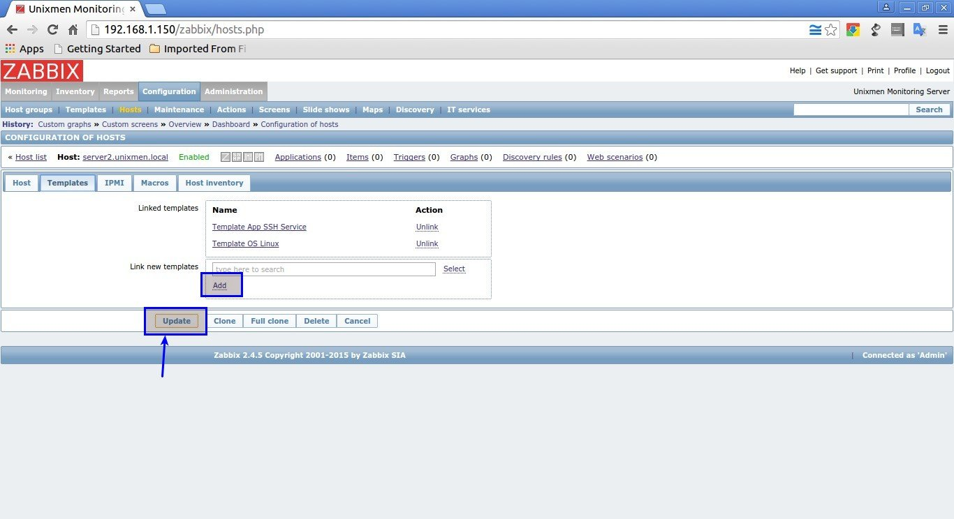Unixmen Monitoring Server: Configuration of hosts - Google Chrome_011
