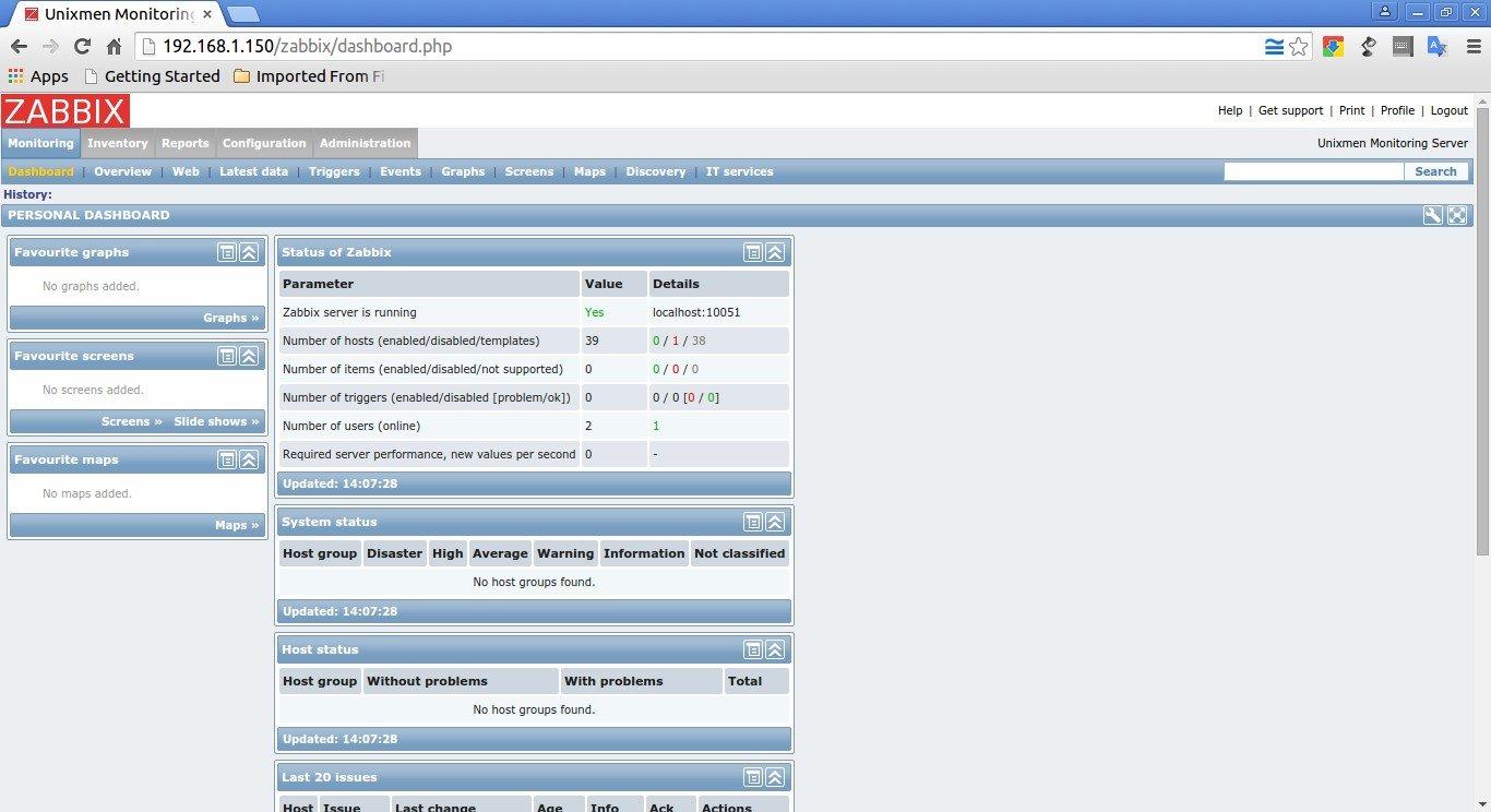 Unixmen Monitoring Server: Dashboard - Google Chrome_001