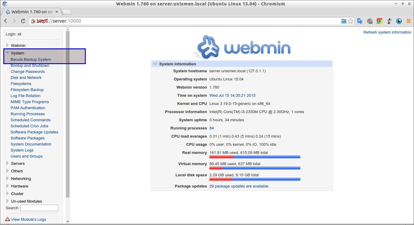 How to install webmin in debian squeeze unixmen - Webmin 1 760 On Server Unixmen Local Ubuntu Linux 15 04 Chromium_013