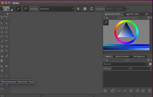 krita main window