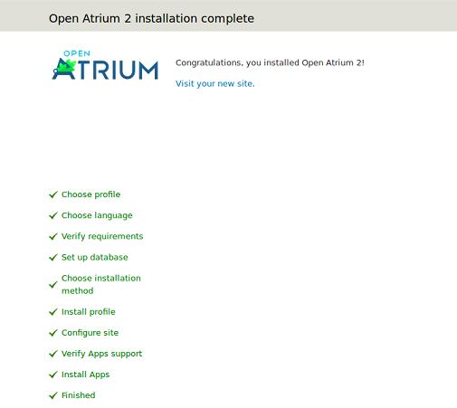 Atrium Install complete