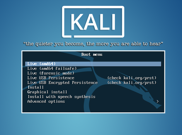 Kali Linux 2 Install