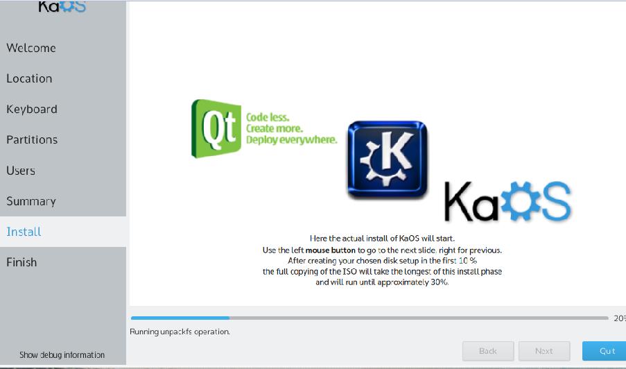 kaOS Installation complete