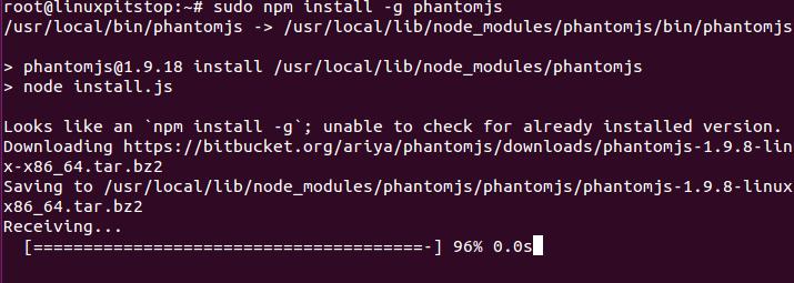 Install PhantomJs