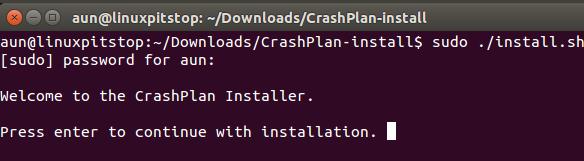 Crash Plan Install 1