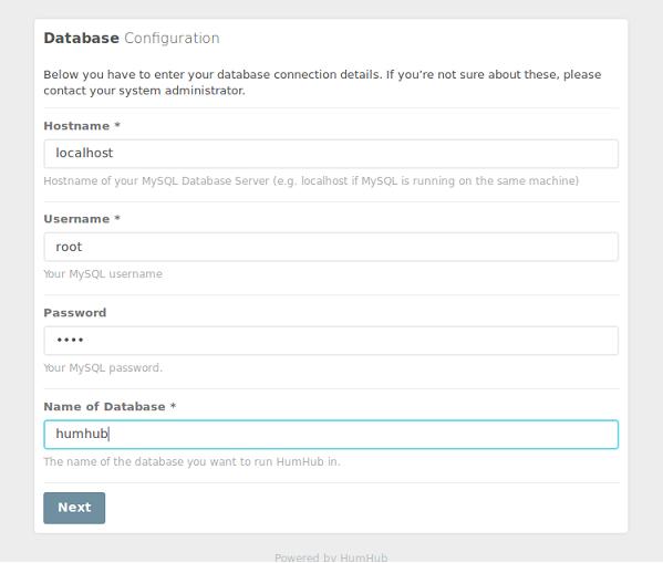 HumHub Database