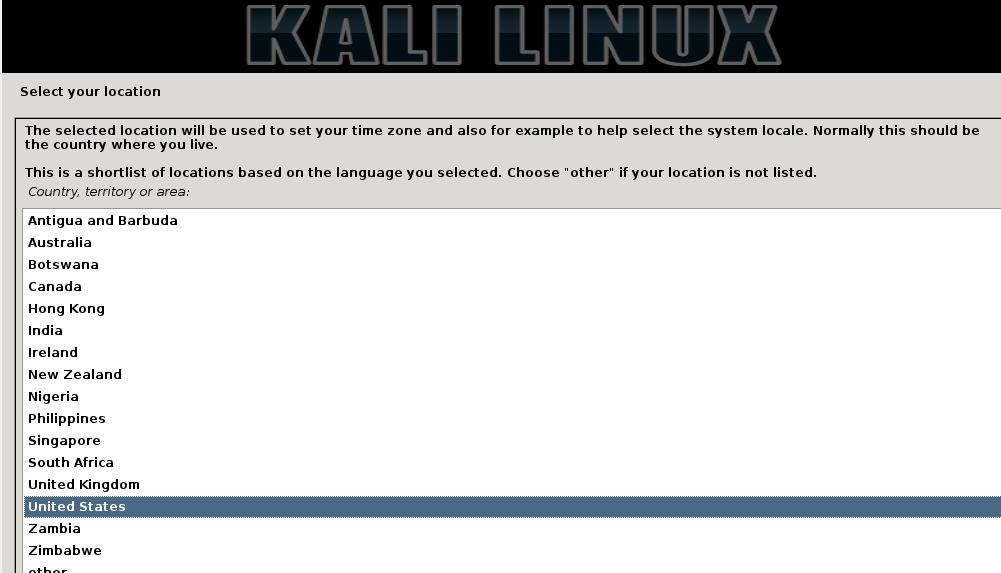 Kali Linux 2 Location