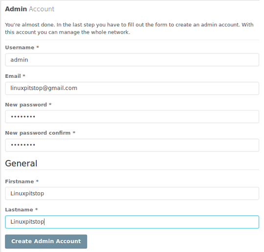 Social network Admin
