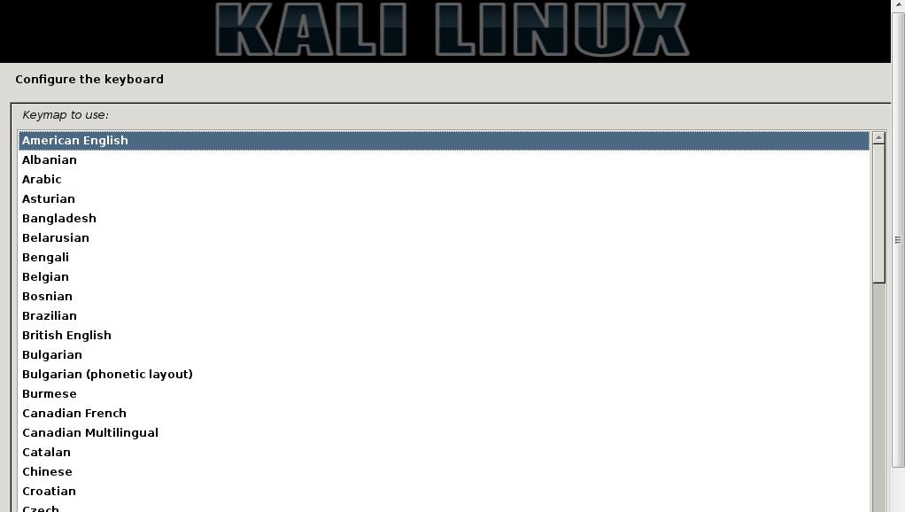 Kali Linux 2 Keyboard