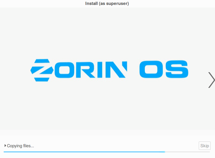 Zorin OS  installing