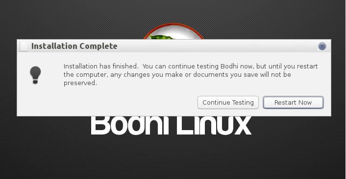 Bodhi Reboot