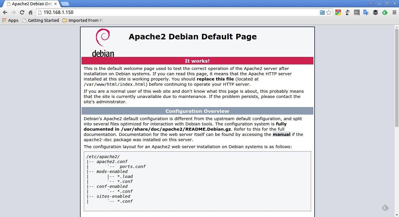 Apache2 Debian Default Page: It works - Google Chrome_001