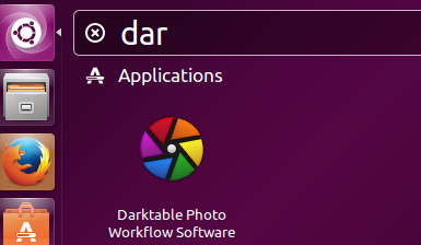 Launch Darktable
