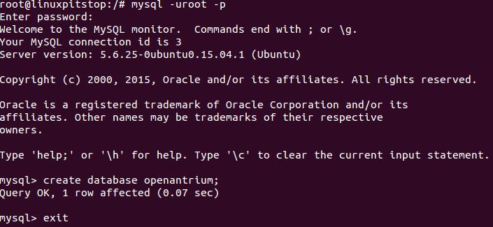 Atrium MySQL