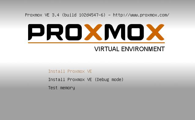 Proxmox Start up