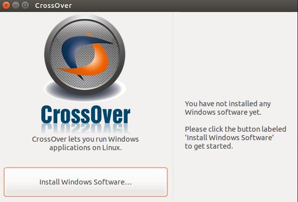 CrossOver Install program