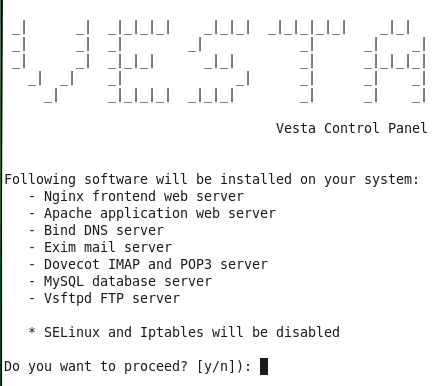 Vesta Installing