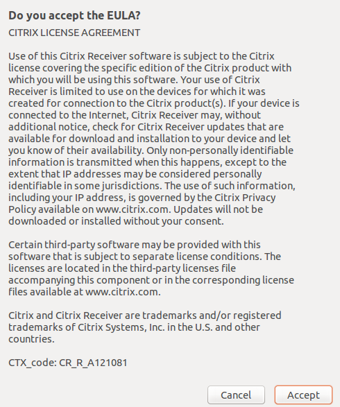 Citrix Receiver License