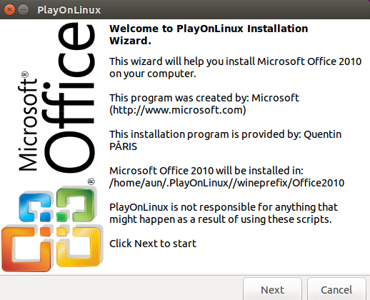 PlayOnLinux Install