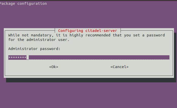 Citadel Admin Password