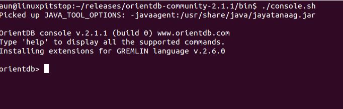 OrientDB Console