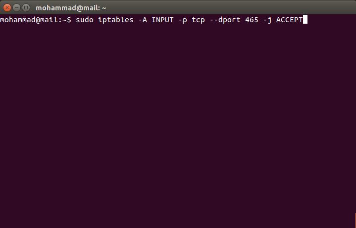 SMTPS465iptables