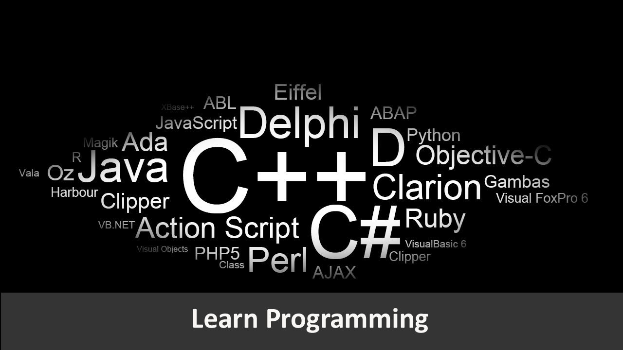order to learn programming languages best ideas about different  most popular programming languages programmers