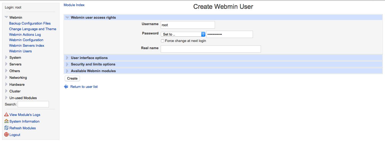 AddWebminUser_OpenSuse