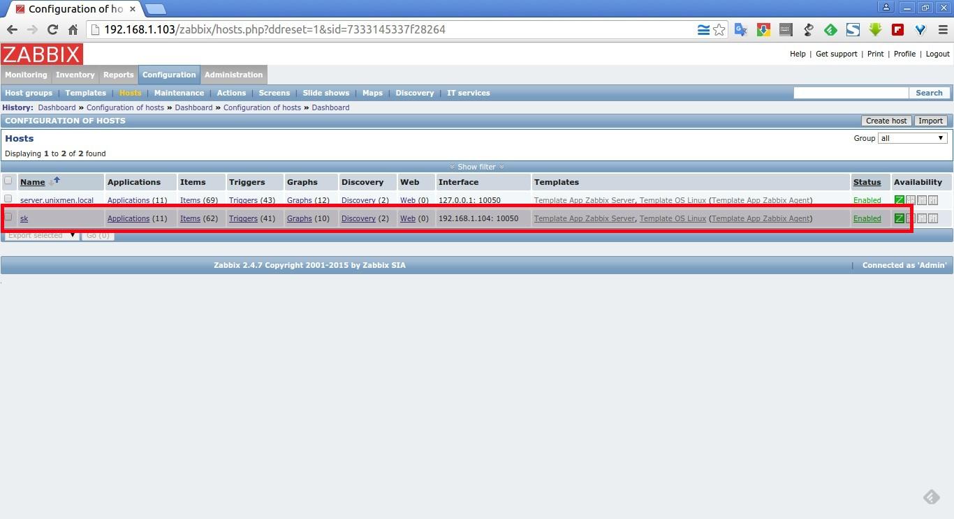 Configuration of hosts – Google Chrome_001