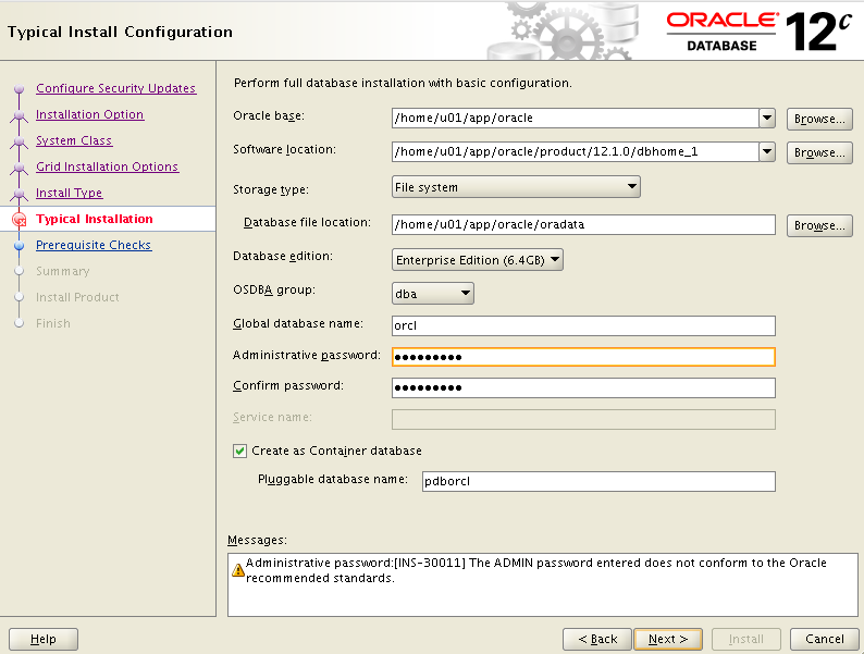 Step7_Oracle12c_OpenSuse