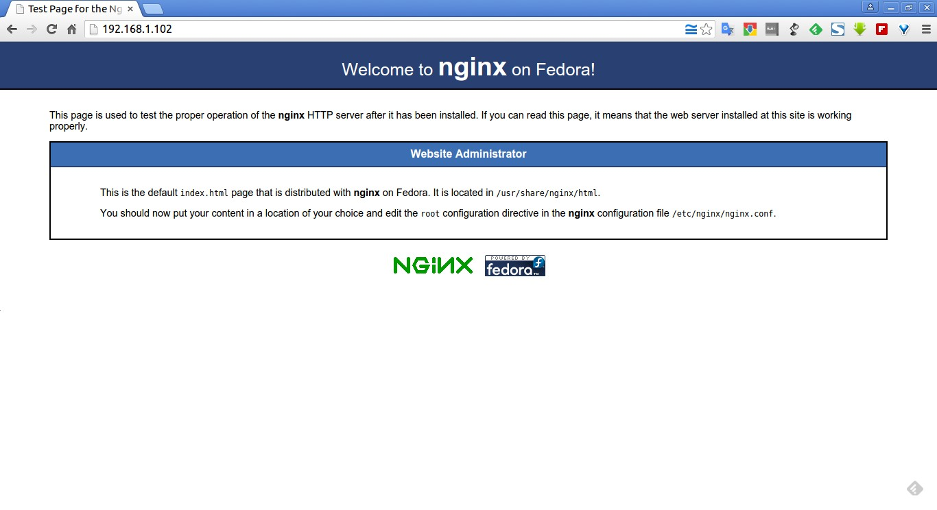 Test Page for the Nginx HTTP Server on Fedora - Google Chrome_002