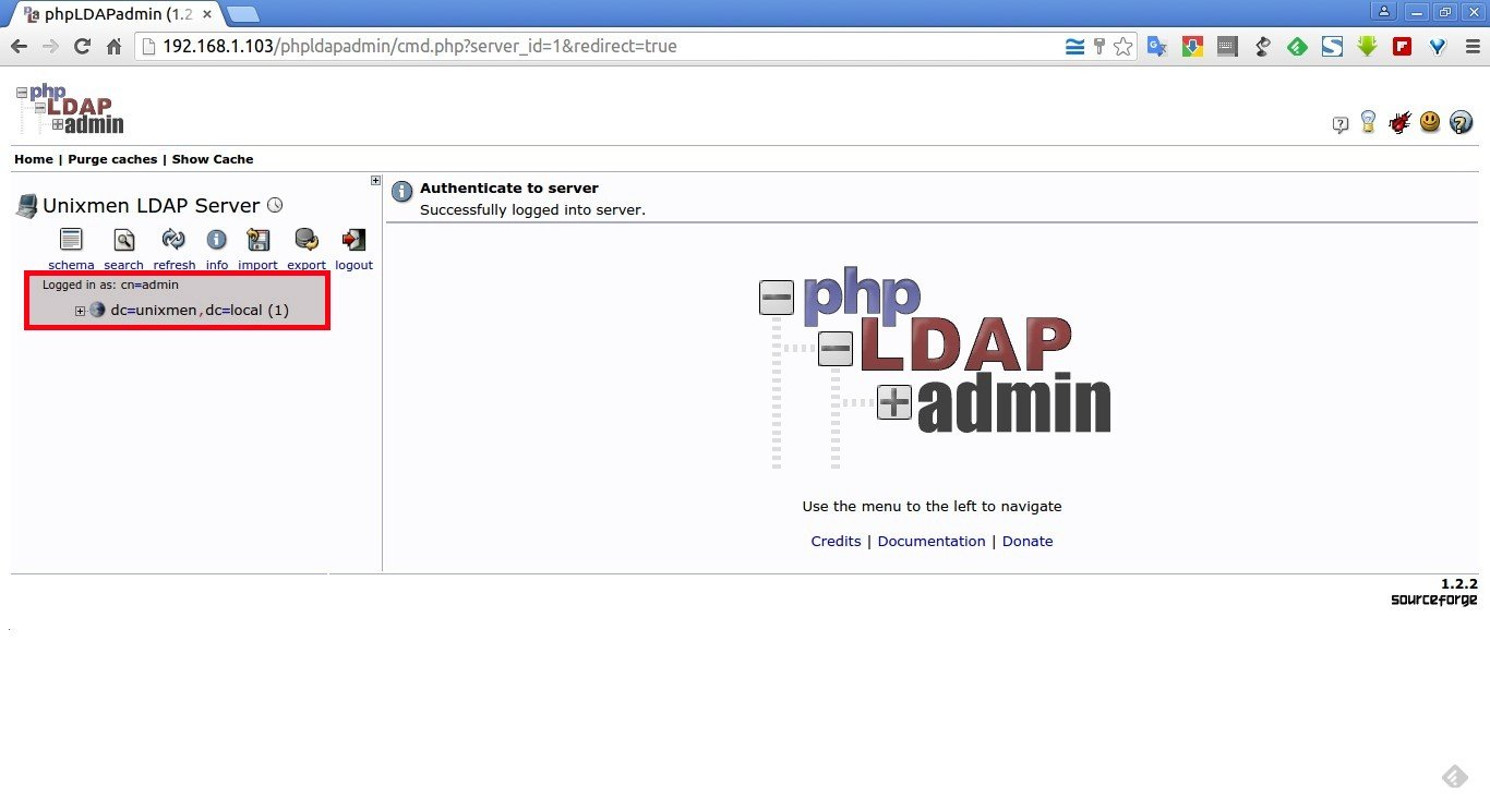 How to install webmin in debian squeeze unixmen - Phpldapadmin 1 2 2 Google Chrome_006