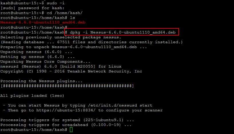 Nessus on Ubuntu
