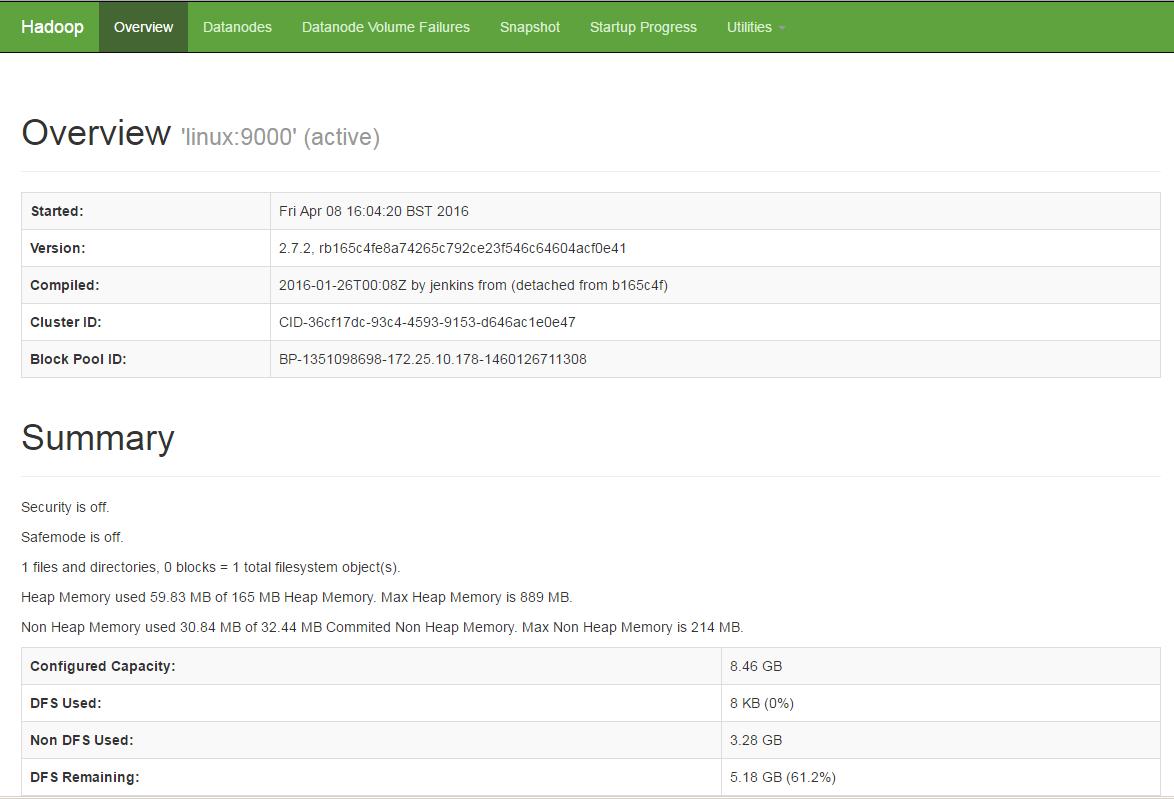 Hadoop Cluster Web