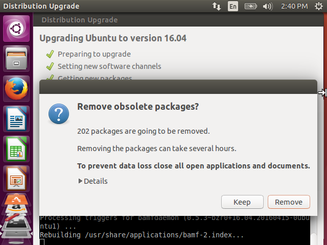Remove obsolete packages