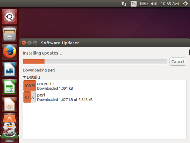 Software Updater Downloading and Installing Latest Packages