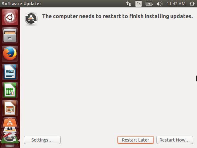 Ubuntu Restart Now