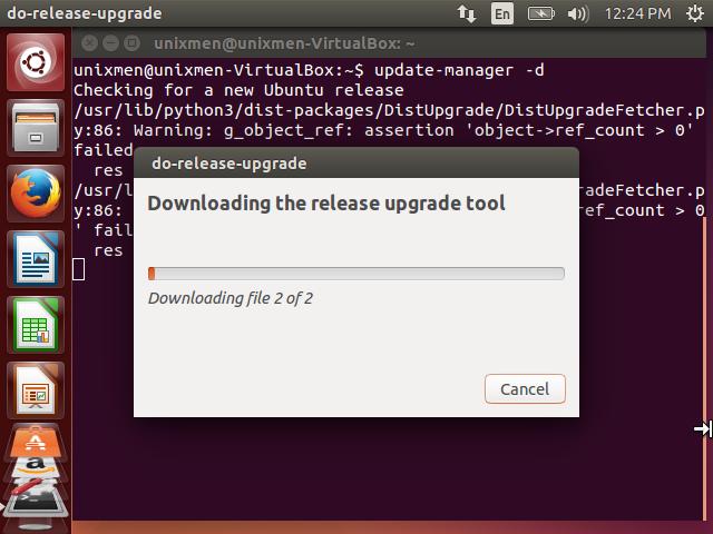 release upgrade tool