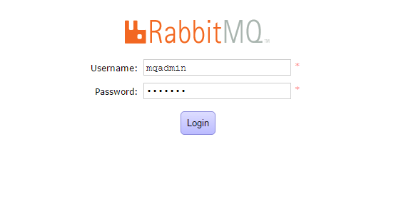 Login to RabbitMQ