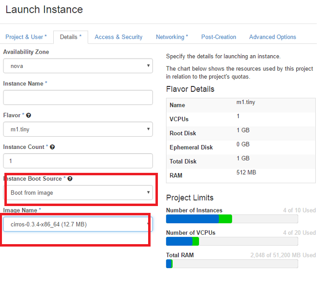 Openstack New Instance