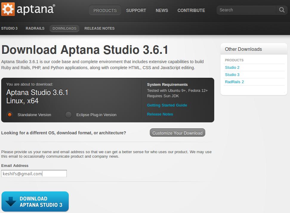 Aptana Studio Download
