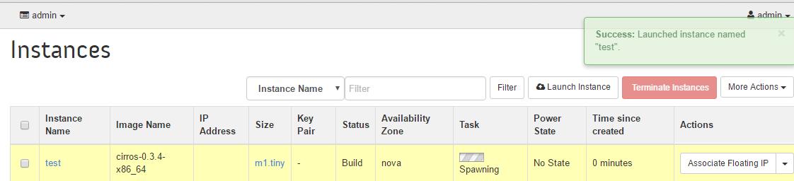 Openstack Launch Instance