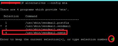 SSMTP default
