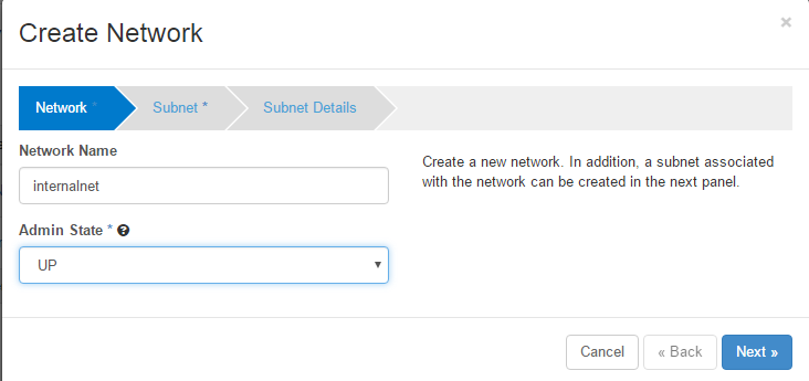 openstack internal network