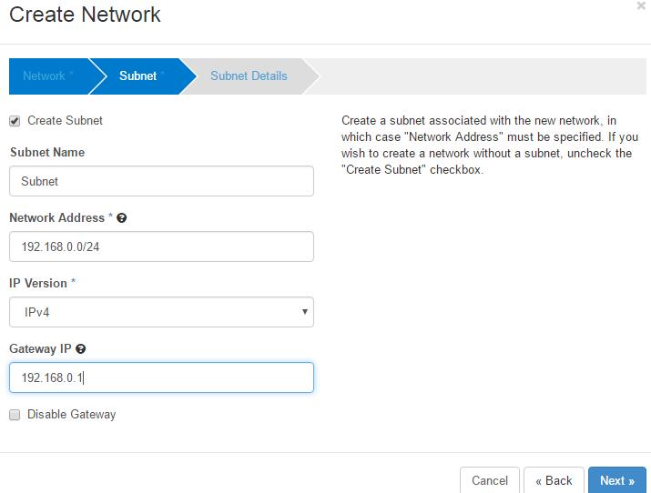 internet network openstack