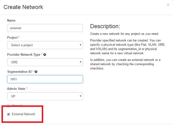 External Network Openstack