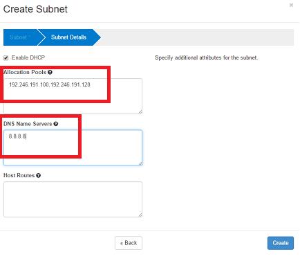 openstack network subnet